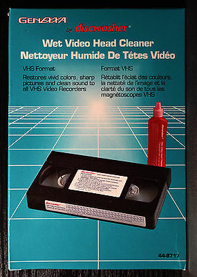 Discwasher Wet Video Head Cleaner - New/Sealed