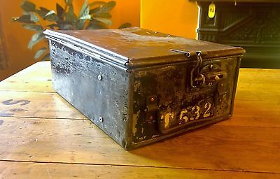 Vtg Bus Conductors Metal Cash Box Locker Safe Drawer Hand Luggage Public Bus