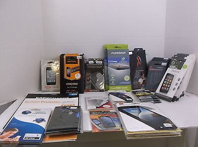 lot of 102 various cell phone/tablet screen protector multi packs