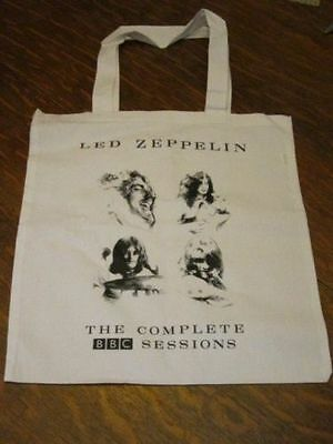 Led Zeppelin Complete BBC Sessions Record Tote LP Bag + lithograph poster RARE