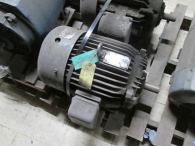 Toshiba 3-Phase Induction Motor B0252FLG3UN 25HP 3525RPM FR:284TS ENCL:TEFC Used