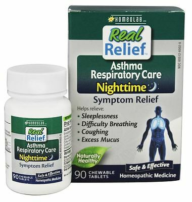 Pack of 3   Homeolab  Real Relief Asthma Respiratory Care  270 Chewables