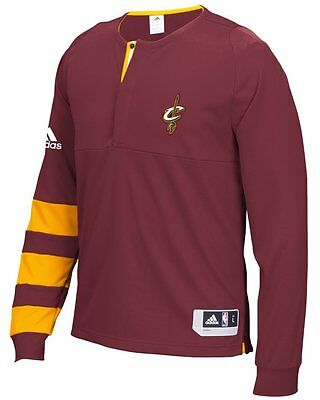 Cleveland Cavaliers Adidas 2016 NBA Men's On-Court Authentic L/S Shooting Shirt-