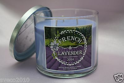 Bath & Body Works French Lavender Scented 14.5 Oz Candle Provence 2014