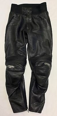 FURYGAN Motorcycle Motorbike Bike Biker Black Leather Trousers Size UK 32