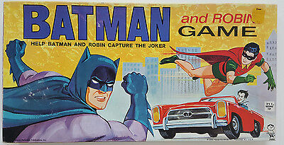 1965 BATMAN AND ROBIN GAME by HASBRO--Capture the JOKER!  NEW IN BOX!