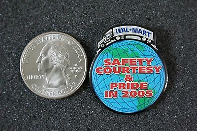 Walmart Transportation Semi Truck Safety Courtesy Pride in 2005 Pin Pinback