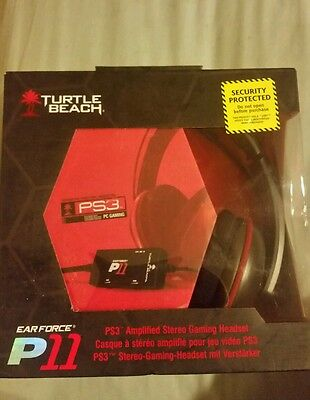 Turtle Beach Ear Force P11 Amplified Stereo Gaming Headset (Pc,ps3) - Ps3 Pc New