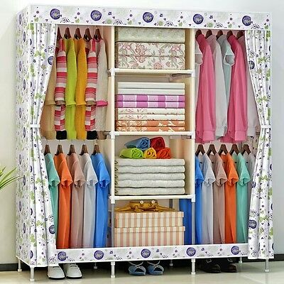 Canvas Wardrobe Non-woven Fabric Dustproof Dampproof