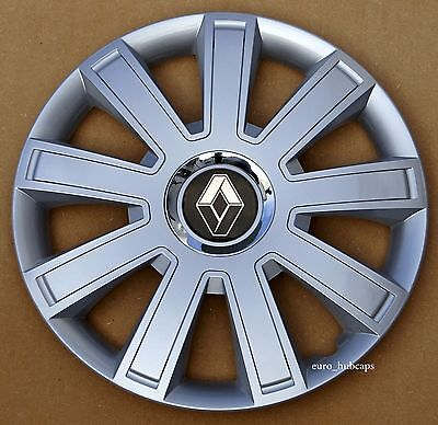 """Silver 16"""" wheel trims, Hub Caps, Covers to fit Renault Trafic"""