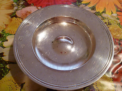"""HISTORICAL ENGLISH STERLING SILVER PLATE 5"""" 1960'S 134.8 gR"""