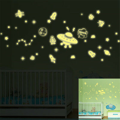 Glow Night Space Hello Home Room Decor Removable Wall Sticker Decal Decoration