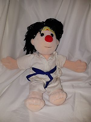 """Rare Vintage Big Comfy Couch 97' Karate """"The Karate Kid"""" 16"""" Plush Doll"""