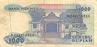 Indonesia *1000*  Rupiah  1987  Series XOQ Replacement Circulated Banknote M27Jw