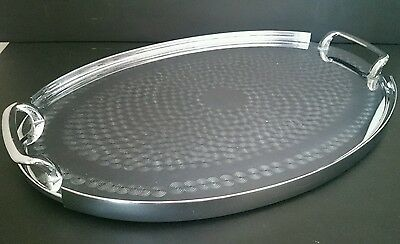 Vintage Retro Wiles Chrome Etched Drinks / Serving Tray Oval Australia VGC