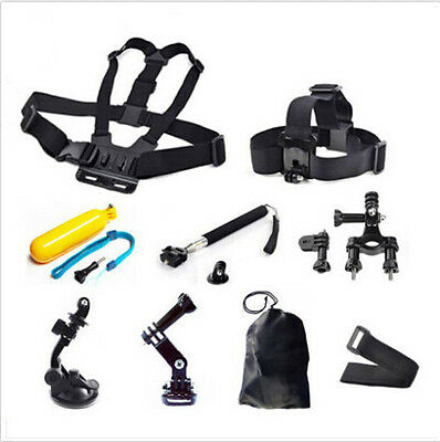 Head Chest Monopod Pole Mount Accessories For GoPro 1 2 3 4 Session Camera