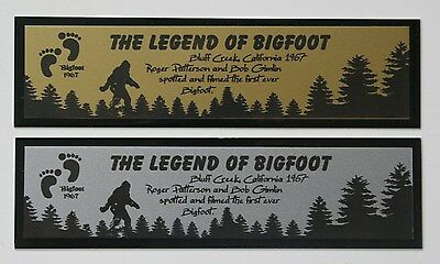 "Bigfoot Sasquatch ""The Legend of Bigfoot"" Nameplate for cast photo"