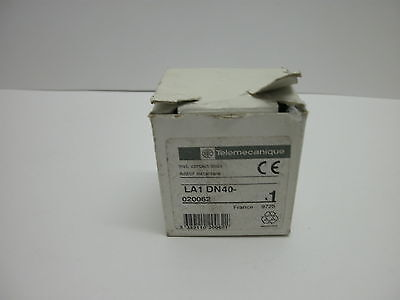 Telemecanique La1 Dn40 Auxiliary Block Top Mount 10 Amp 4 N.o. 600Vac New In Box