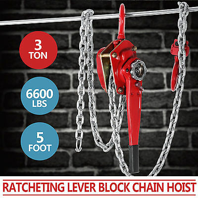 Brand New 3000kg 3T 1.5m Lever hoist chain  Comealong  Lever Block Hot