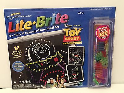 Lite Brite Toy Story & Beyond REFILL Sheets (12) & 100+ Pegs Factory Sealed NEW
