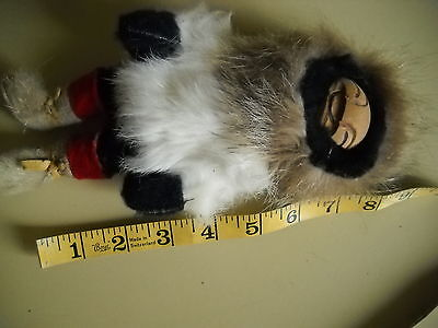 Eskimo doll w/ fur and leather Clothing