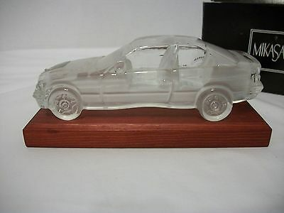 MIKASA CRYSTAL CLASSICS BMW 325i COUPE PAPERWEIGHT WITH STAND