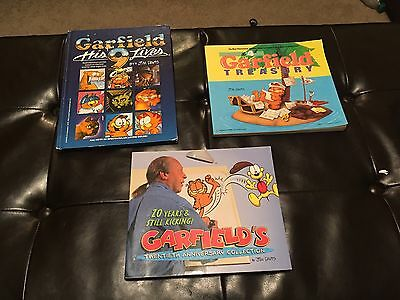 Garfield The Cat & His Nine Lives -HB + 2 PB BOOKS-20th ANNIVERSARY-4th Treasury
