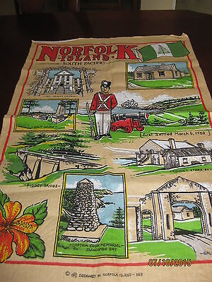 Linen/cotton Tea Towel - Norfolk Island South Pacific
