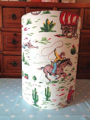 """12"""" wide 16"""" tall FLOOR OR TABLE LAMPSHADE in CATH KIDSTON LARGE COWBOY CREAM"""