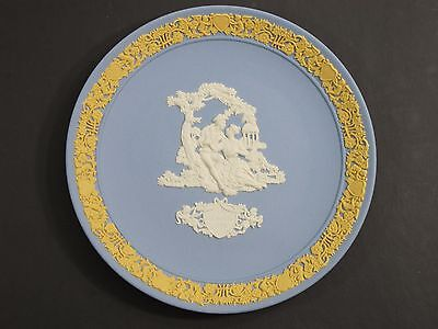 Wedgwood Jasperware Pink Blue Valentine's Day 1989 Plate Limited Edition