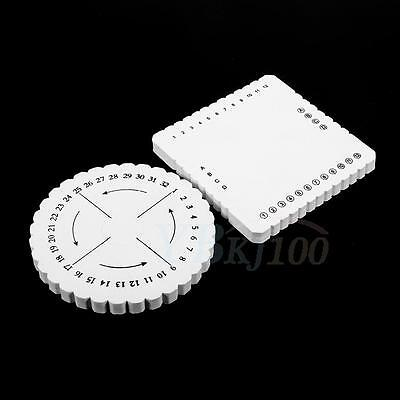 Reusable Round Square Kumihimo Disc Weaving Braiding Cord Disk Plate Accessories
