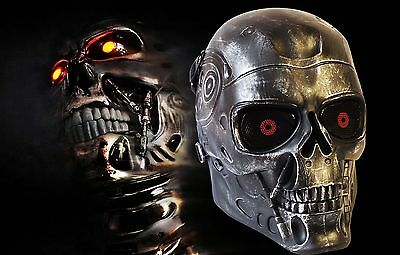 Terminator full face mask Cosplay dress up wear airsoft skirmish  silver black