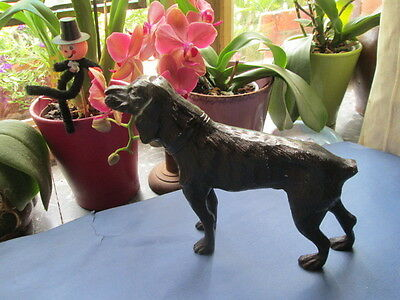 """Beautiful antique cast metal spelter Hunting dog"""" Pointer""""/France"""