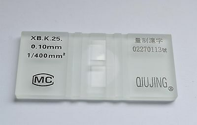 1pc Hemocytometer cell counting recorder Improved  & 100pcs 20x20mm coverslips