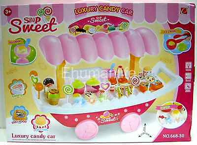 Sweet Shop Luxury Candy Car with Light, Sound & Plastic Toy 37p Colorful Candies