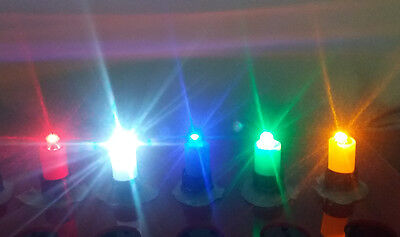 100 pcs /lot DC12V LED light, green, blue, white, yellow, red for push button