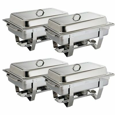 4x OLYMPIA CNS Professionnel ACIER INOX Chafing Dish Incl. 4 x 1/1 GN