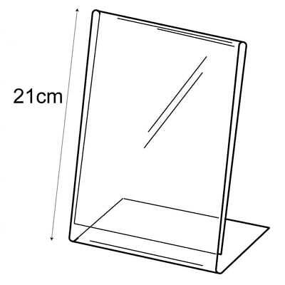 Acrylic A5 Budget Portrait Counter/FreeStanding Angled Menu/Sign Holder