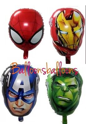 "Avengers 20"" Hulk Captain America Iron Man Spiderman Balloon Party Superhero UK"