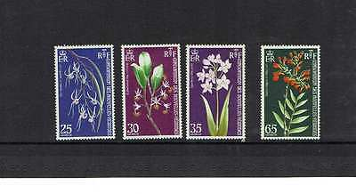 New Hebrides: 1977 Orchids (French, SG F189/92) Mint set