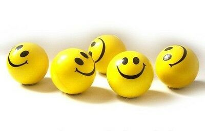 dazzling toys Dazzling Toys Happy Smile Face Stress Ball - Pack of 24 (D056)