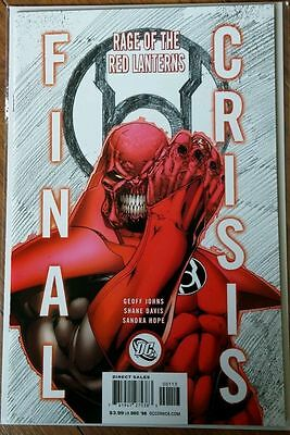 Final Crisis: Rage of the Red Lanterns #1 RARE 3RD PTG 1st Bleez & 8 others NM+