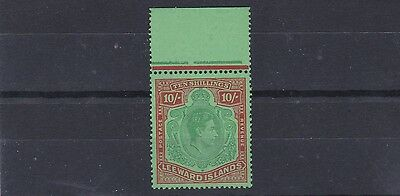 Leeward Is  1938 - 51  S G 113 10/- Blueish Green & Deep Red Marg Mnh Cat £200