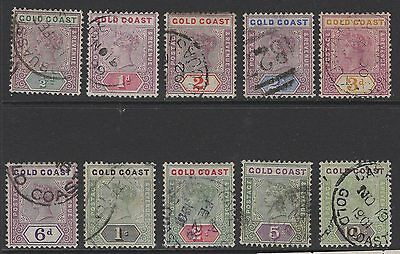 Gold Coast Sg26/34 1898-902 Definitive Set Used