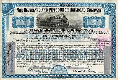 The Cleveland and Pittsburgh Railroad Company 1977 (500 Shares) Special Stock