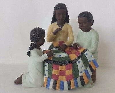 Sarah's Attic Quilting Lessons African American Figurine Family