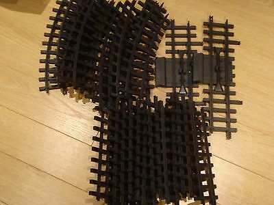 Lot of 28 New Bright Plastic G Scale Curved, Straight, Switch Train Track 1986