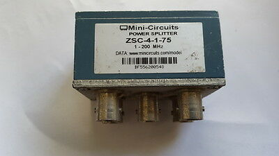 Mini-Circuits ZSC -4-1-75 4 Way-0° 75Ω 1 to 200 MHz