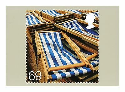Deckchairs Beside The Seaside Royal Mail Postcard Phq 298 Issued May 2007