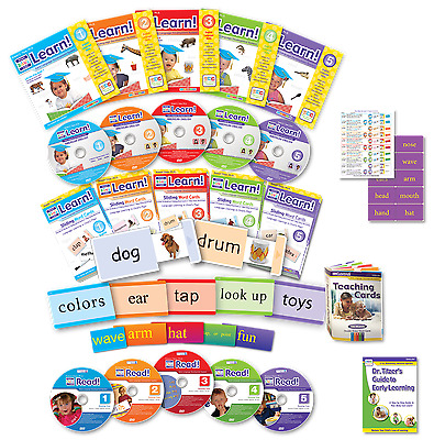 Your Child Can Read & My Baby Can Learn DELUXE Vol 1-5 DVD NEW